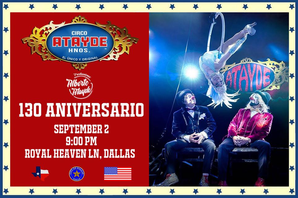 Los Estrouberry Clowsn / Circo Atayde Hnos., en Dallas 2018