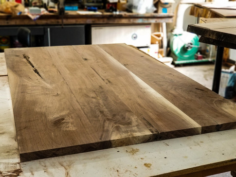 Unfinished Black Walnut Table Top