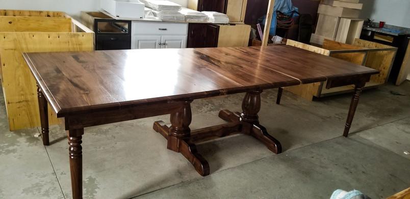 Black Walnut Dining Table Built From Customer's Walnut Tree