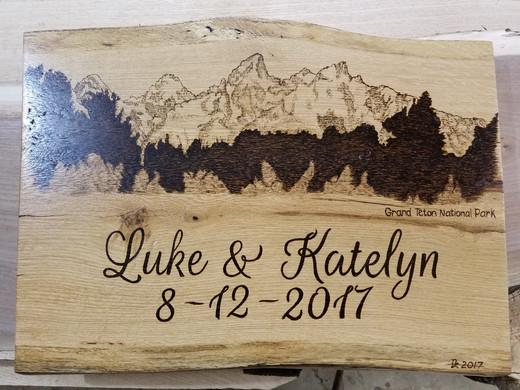 Live Edge Wedding Plaque