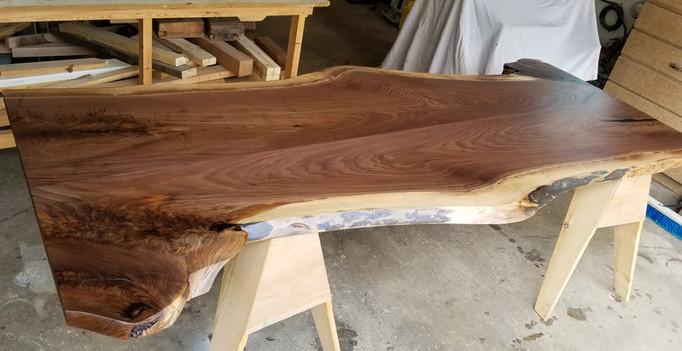 Black Walnut Live Edge Table Top