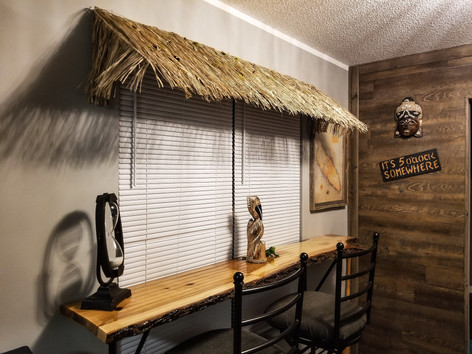 Live Edge Hickory Pub Side Table