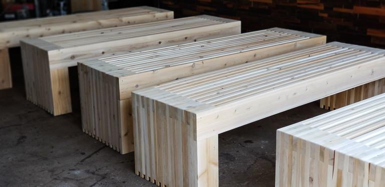 Cedar Outdoor Benches