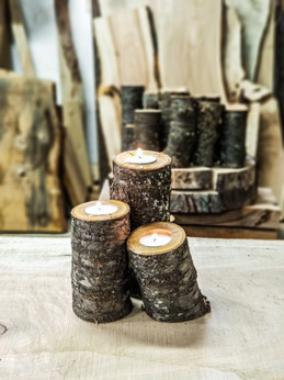 Rustic Cherry Candle Centerpieces