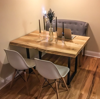 Live Edge Hickory Table