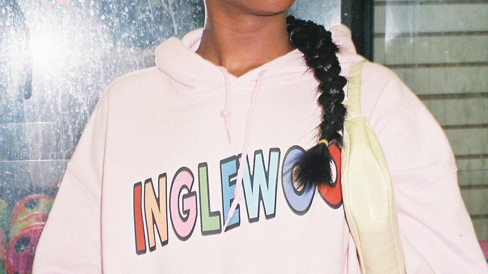 unisex pink INGLEWOOD Hoodie