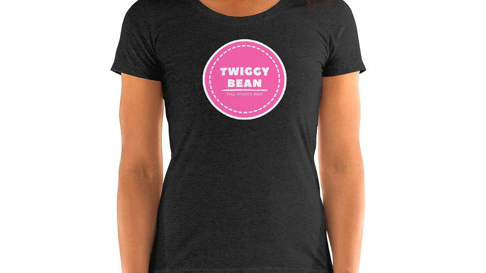 Official Twiggy Bean Tall Ladies Rock Logo short sleeve t-shirt