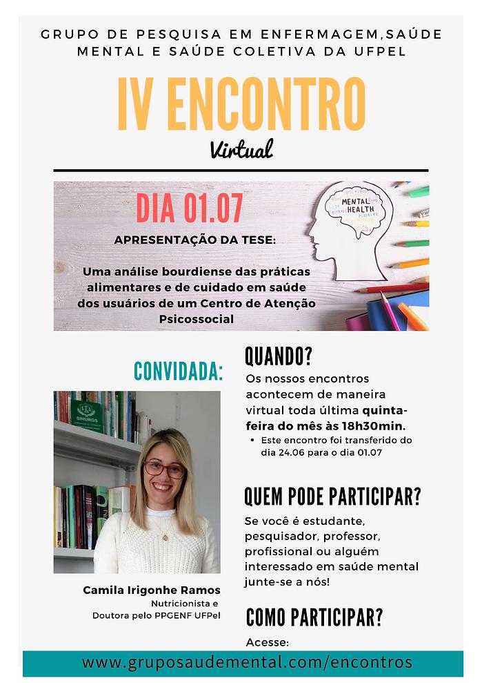 IV ENCONTRO DO GRUPO DE PESQUISA ENFERMA