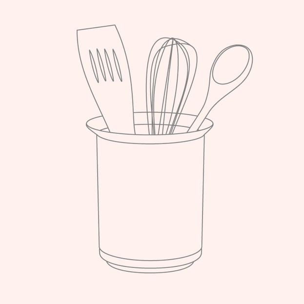 Utensil Holder + Spoon Rest