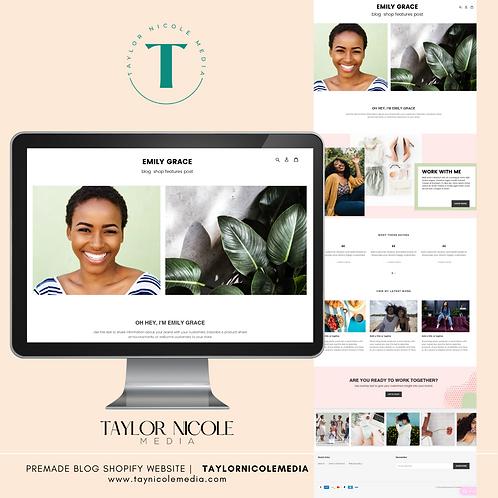 Blog Premade Website