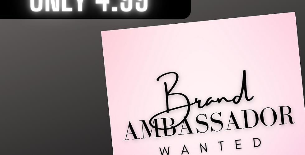 Premade Brand Ambassador (Pink)