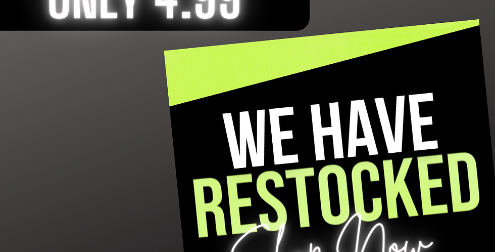 Restock Flyer (Lime Green)