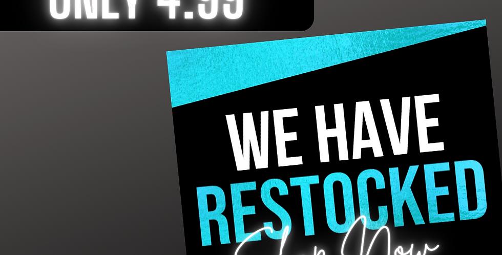 Restock Flyer (Teal)