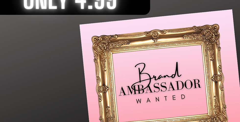 Premade Brand Ambassador (Pink Frame)