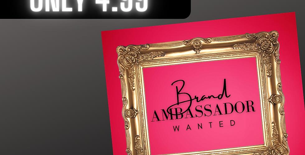 Premade Brand Ambassador (Red Frame)