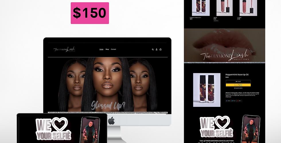 Lip Gloss Premade Website