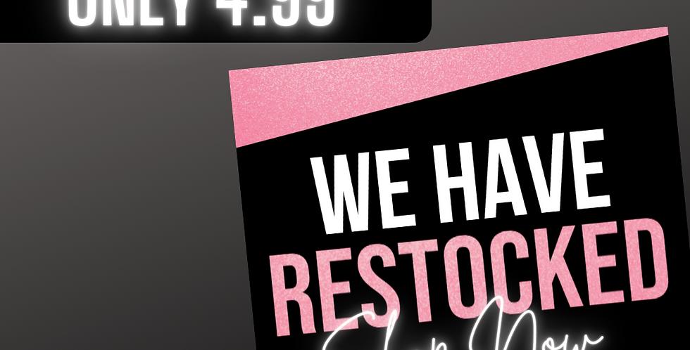 Restock Flyer (Pink Glitter)