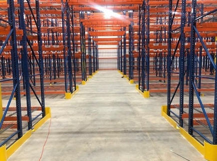 TEARDROP SELECTIVE RACK TUNNEL WITH END AISLE GUARDS