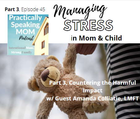 Managing Stress in Mom and Child, Part 3: Countering the Harmful Impact w/ Guest A. Colliatie, LMFT