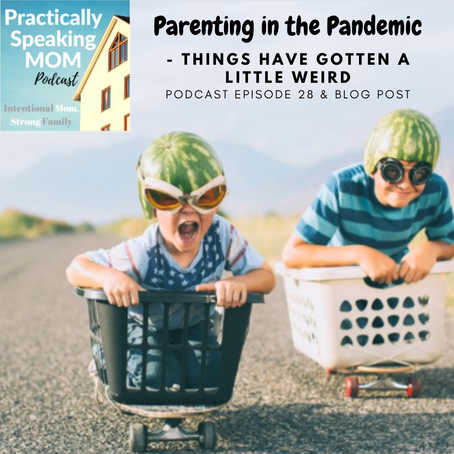 Podcast & Blog: Parenting in the Pandemic - life has gotten a little weird...