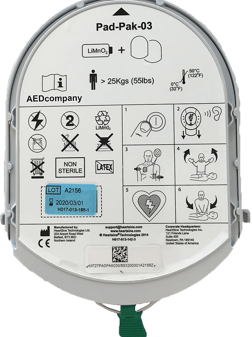 Samaritan Pad 300/350/500 - Batteri og elektroder