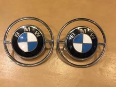 BMW OEM 2x C-Säule Enamel Emblem mit Chrom