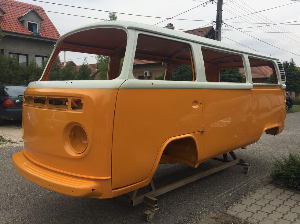 VW T2  karosse lackiert chromyellow