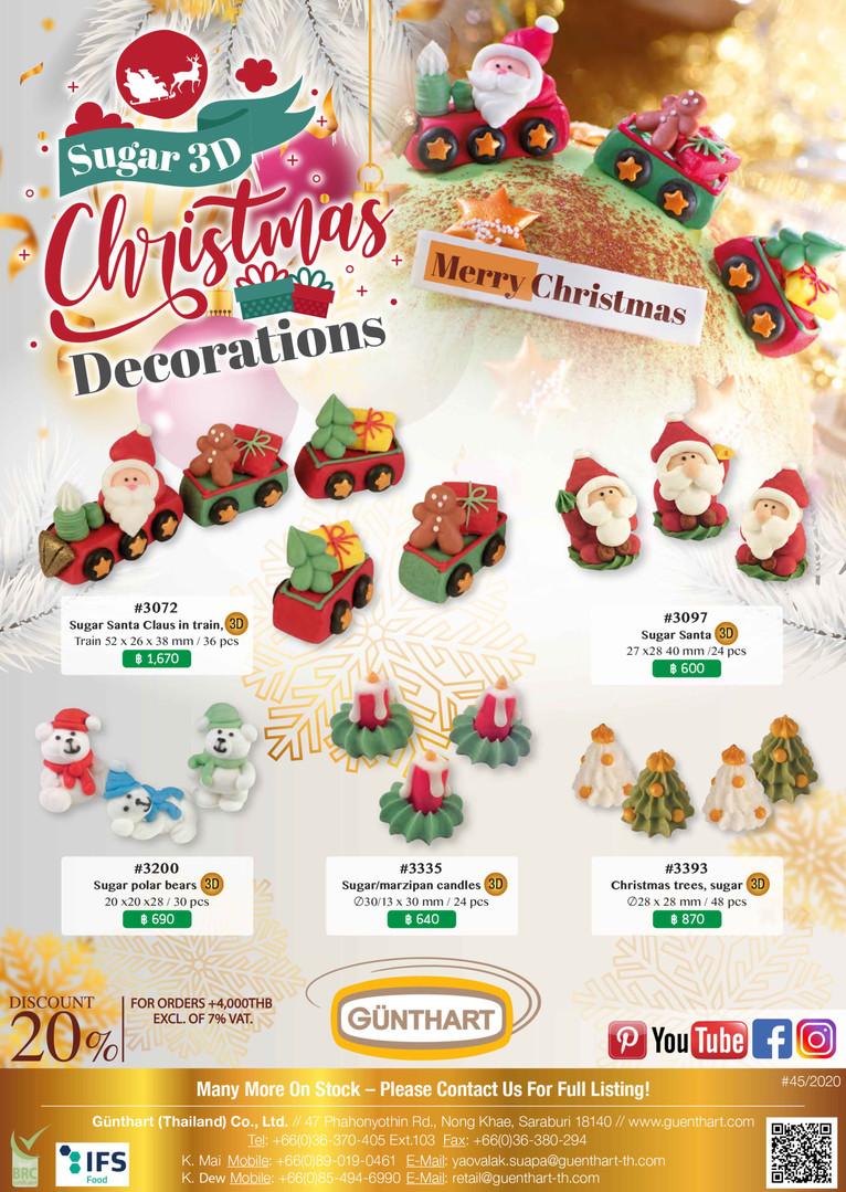 45-2020 sugar 3d Christmas decorations