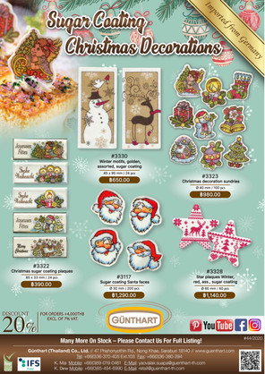 44-2020-sugar coating Christmas decoration