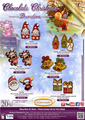43-2020 chocolate Christmas decorations