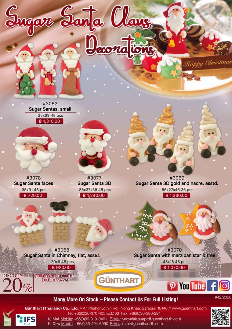 42-2020 sugar Santa Claus decorations