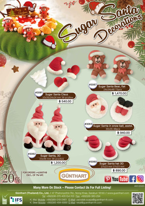 41-2020 sugar Santa Claus decorations