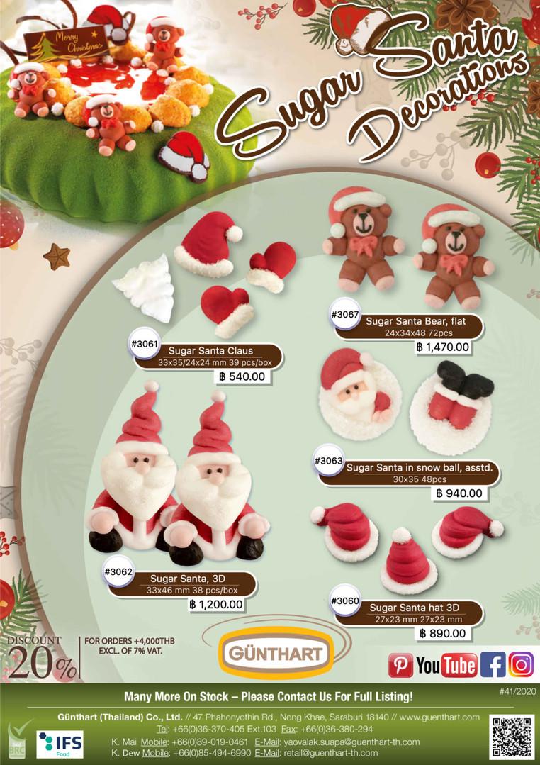 41-2020 sugar Santa Claus decorations