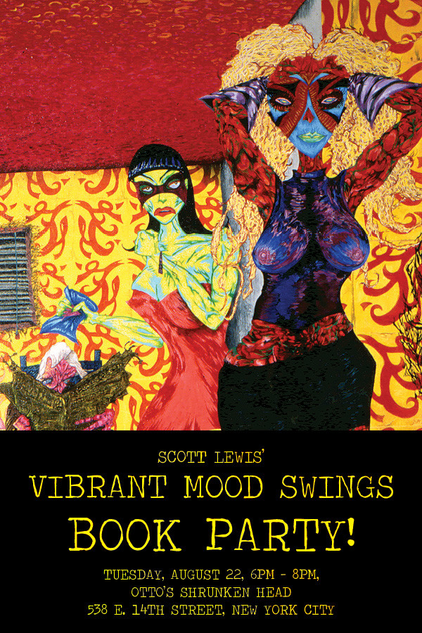 Vibrant Mood Swings Postcard