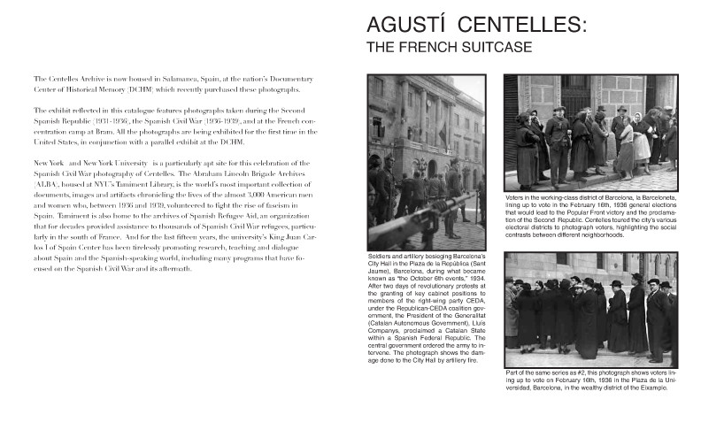 Centelles Exhibit Brochure-Interior