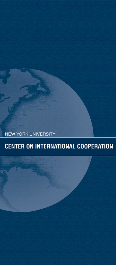 Cover for Center on International Cooperation Program