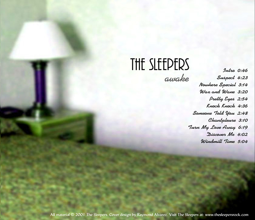 Back Cover for The Sleepers CD