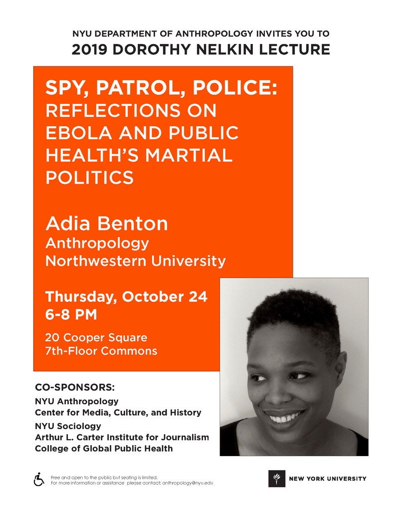 2019 Dorothy Nelkin Lecture Event Flyer