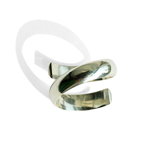 Half Round Sterling Open Ring