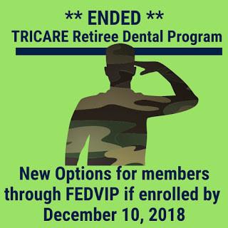 Tricare Retiree Dental Program Ended