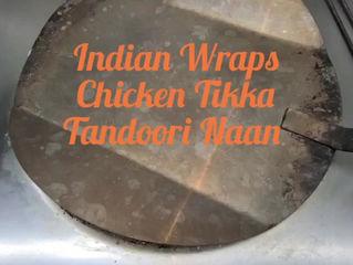 Indian Wraps: Chicken Tikka , Seekh Kebab or Veg
