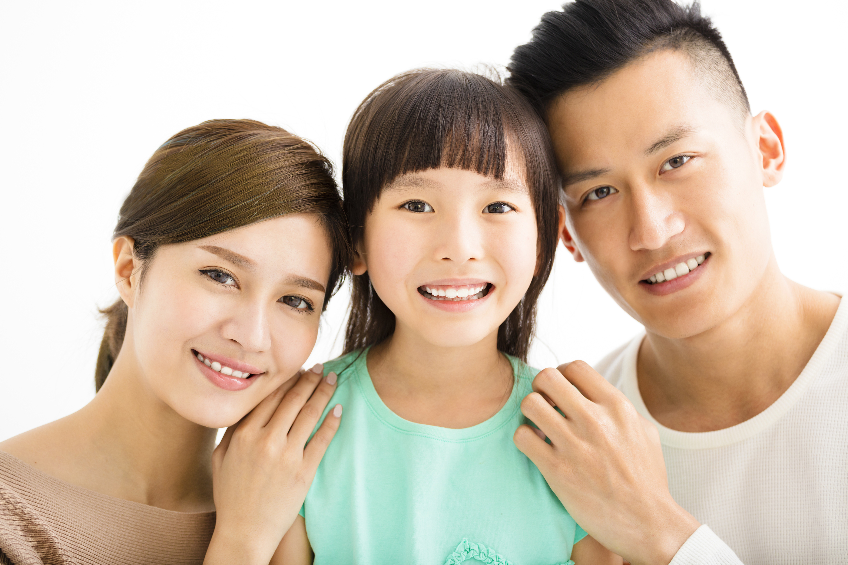Family healthy teeth and smiles