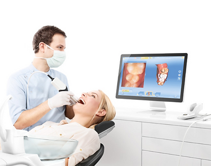 Cosmetic dentistry Cerec digital scanner