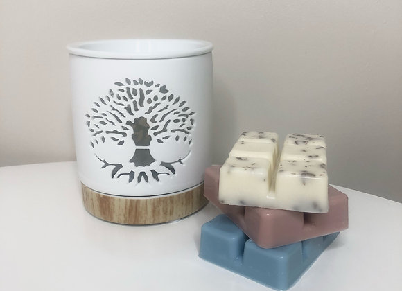 Tealight wax burner starter kit - tree of life design