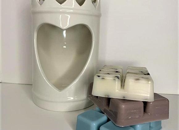 Tealight wax burner starter kit - heart design