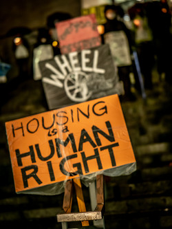 Seattle Winter Soltice Vigil for Homeless Who Died in the Streets in 2020