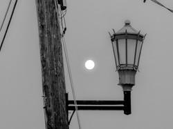 Street Lamp in Wildfire Smoke, Seattle