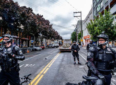 Images from SPD's July 1 Shutdown of CHOP