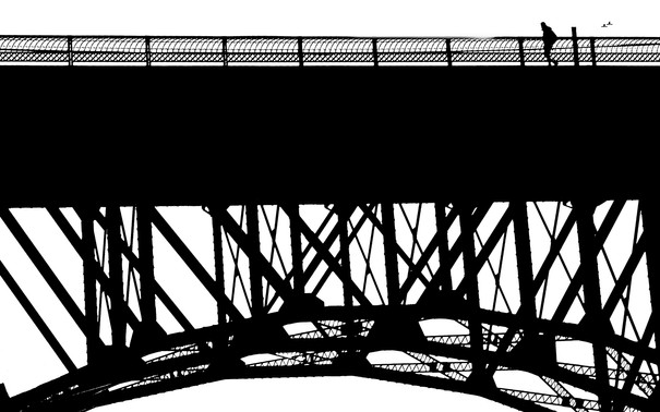 Crossing the  Rizal Bridge