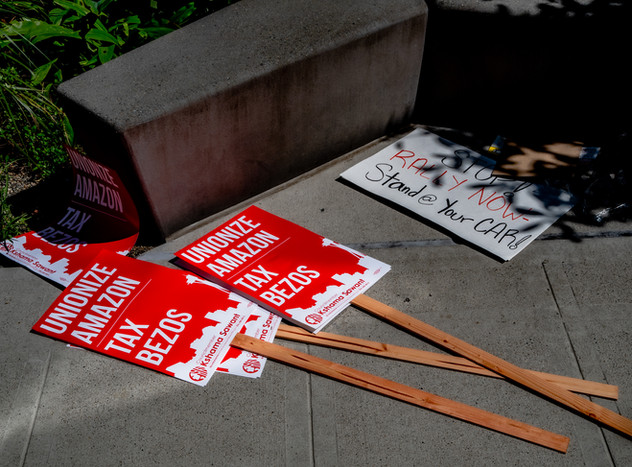 May Day Protest Signage